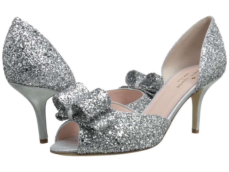 Kate Spade New York Sela (Silver Glitter/Silver Liquid Suede) Women