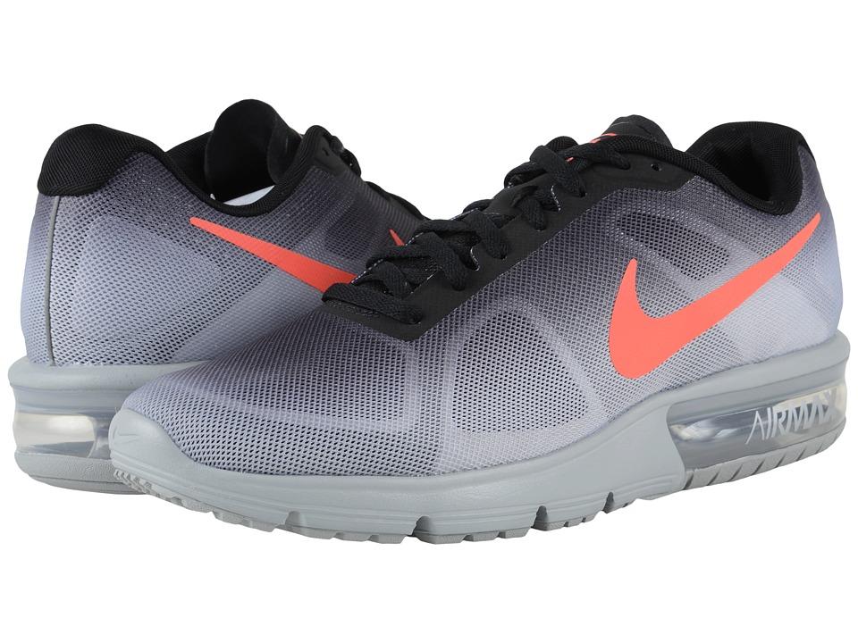 Nike Air Max Sequent (Metallic Silver/Black/Dark Grey/Bright Crimson) Men