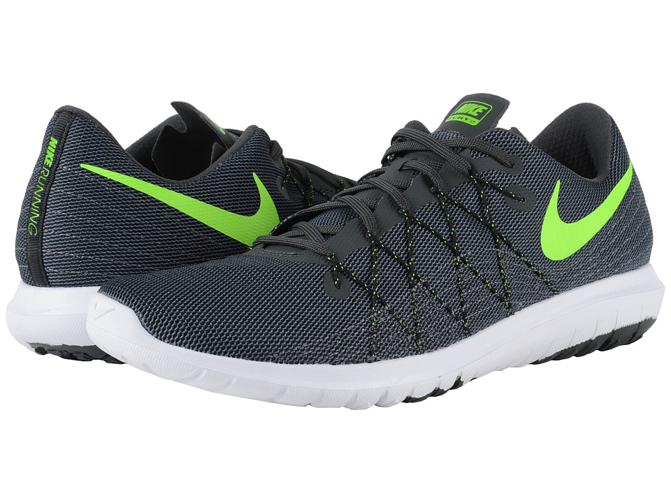 Nike Flex Fury 2 Anthracite/Dark Grey/Black/Electric Green Mens Running Shoes