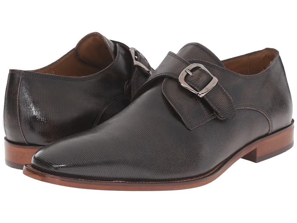 Florsheim - Sabato Plain Toe Monk Bronze Printed Mens Slip-on Dress Shoes $130.00 AT vintagedancer.com