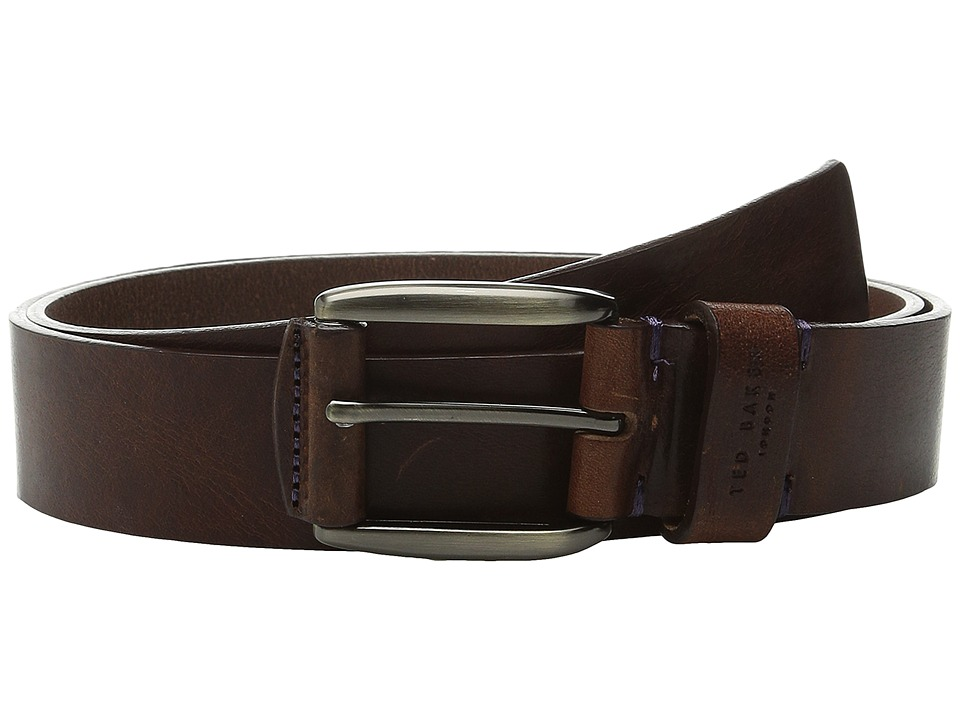 Ted Baker - Jeebelt Textured Leather Jean Belt (Tan Jean) Mens Belts