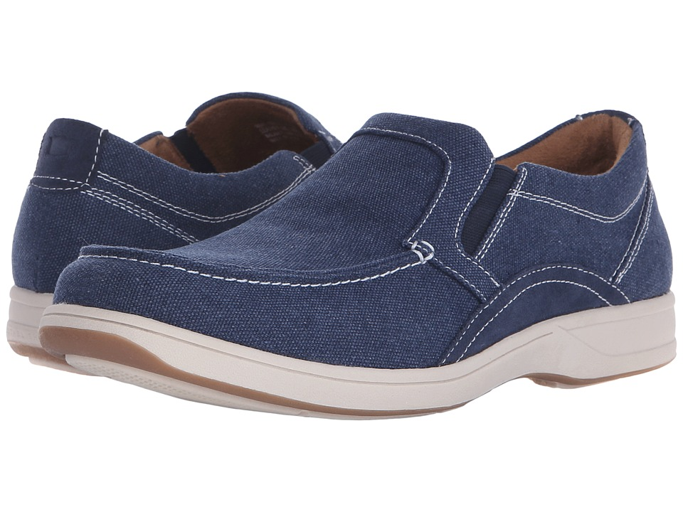 Florsheim Lakeside Moc Toe Slip-On (Navy Canvas/Navy Suede) Men