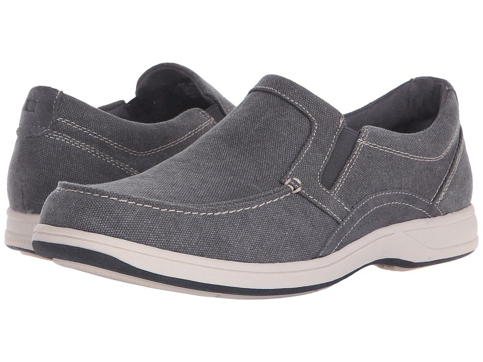 Florsheim Lakeside Moc Toe Slip-On (Grey Canvas/Grey Suede) Men