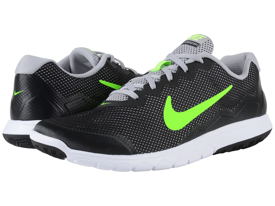Nike Flex Experience Run 4 Black/Flight Silver/White/Electric Green Mens Running Shoes