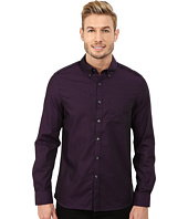 Kenneth Cole Sportswear - Long Sleeve One-Pocket Irridescent Shirt