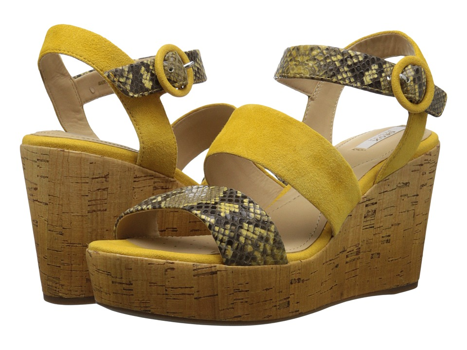 Geox WJALEAH4 (Ochre Yellow) Women