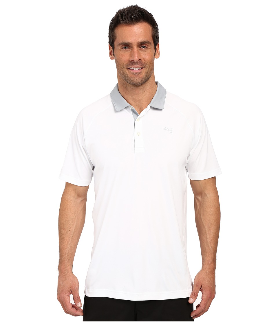 PUMA Golf Short Sleeve Dynamic Vent Polo Bright White Mens Short Sleeve Pullover