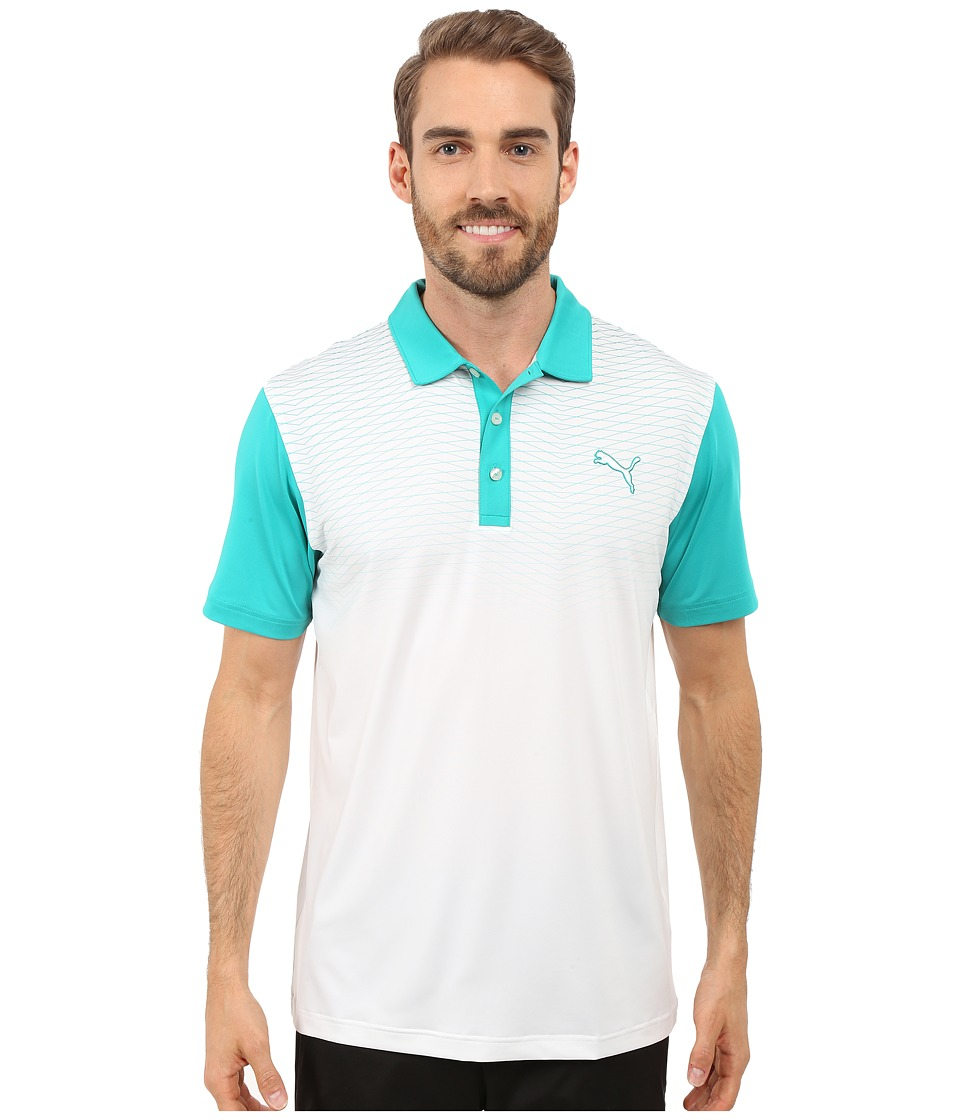 PUMA Golf GT Color Block Fade Polo Columbia Mens Clothing