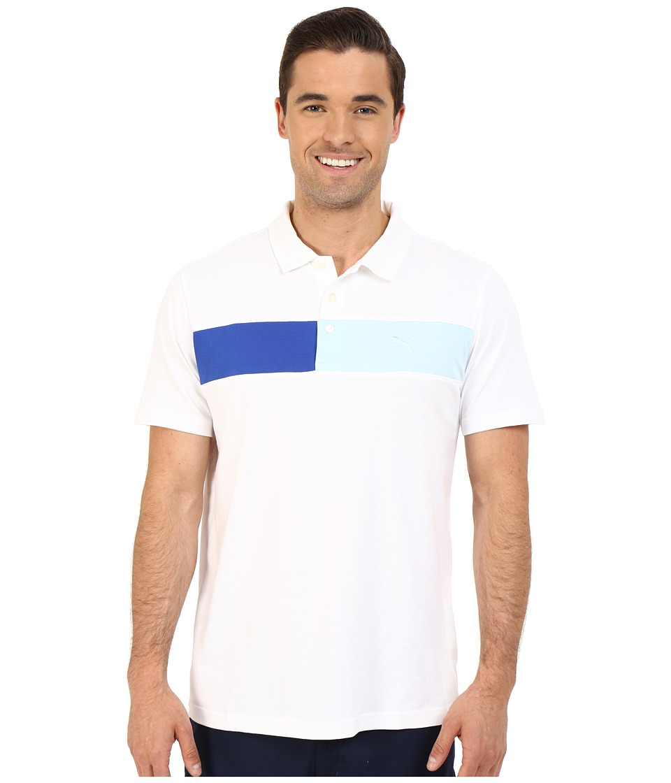 PUMA Golf Short Sleeve Cool Touch Polo Bright White Mens Short Sleeve Pullover