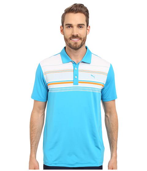PUMA Golf Short Sleeve Key Stripe Polo