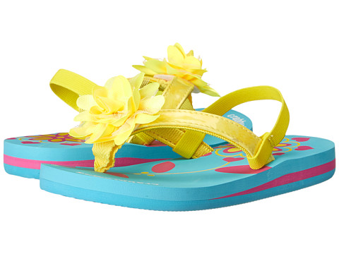 Crabbyclaws Flower (Toddler/Little Kid/Big Kid) - Yellow Patent