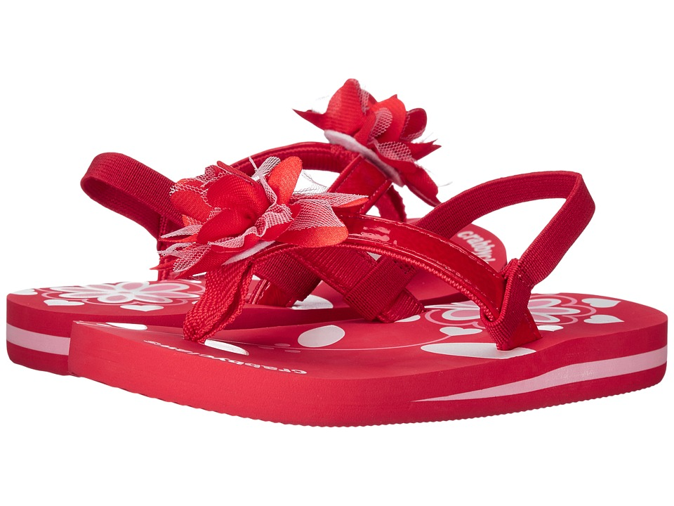 Crabbyclaws Flower Toddler/Little Kid/Big Kid Red Patent Girls Shoes