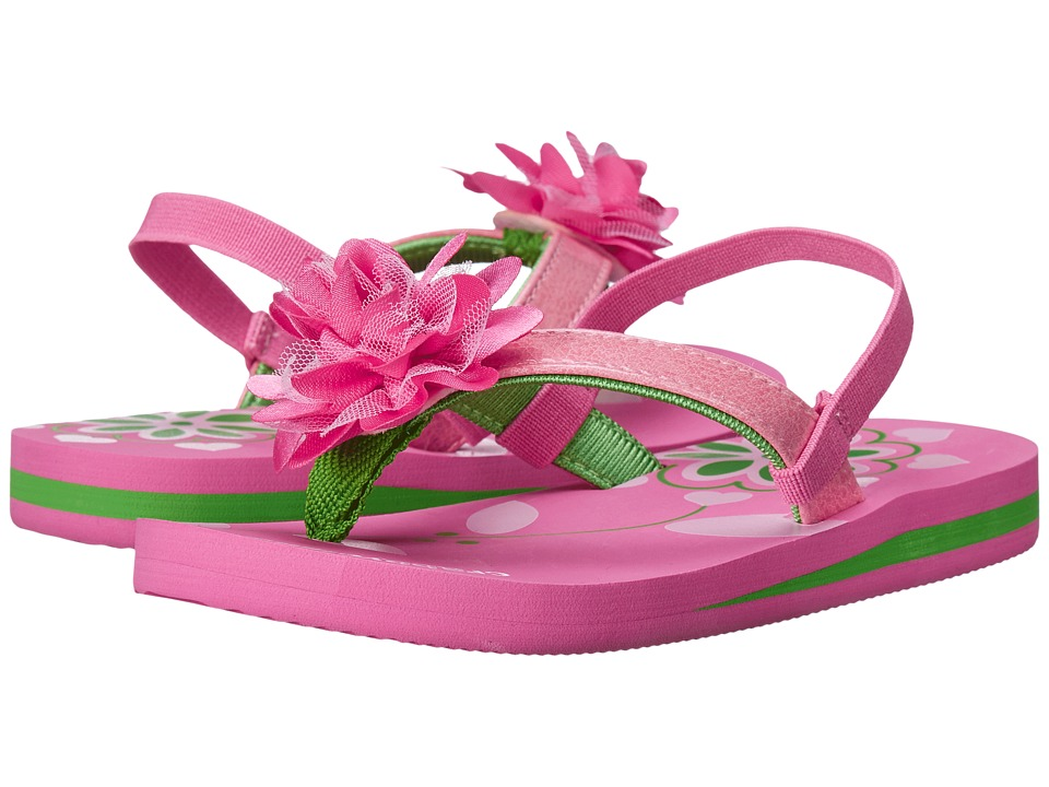 Crabbyclaws Flower Toddler/Little Kid/Big Kid Pink/Green Girls Shoes