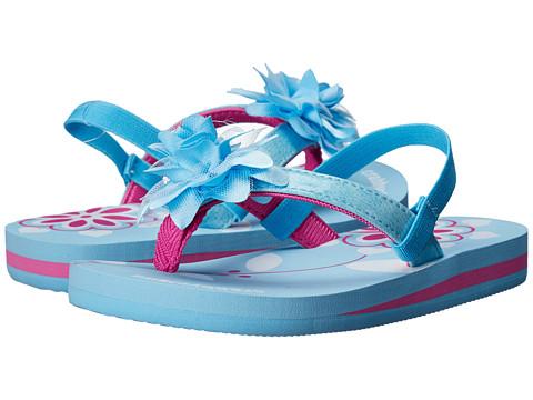 Crabbyclaws Flower (Toddler/Little Kid/Big Kid) - Light Blue/Fuchsia