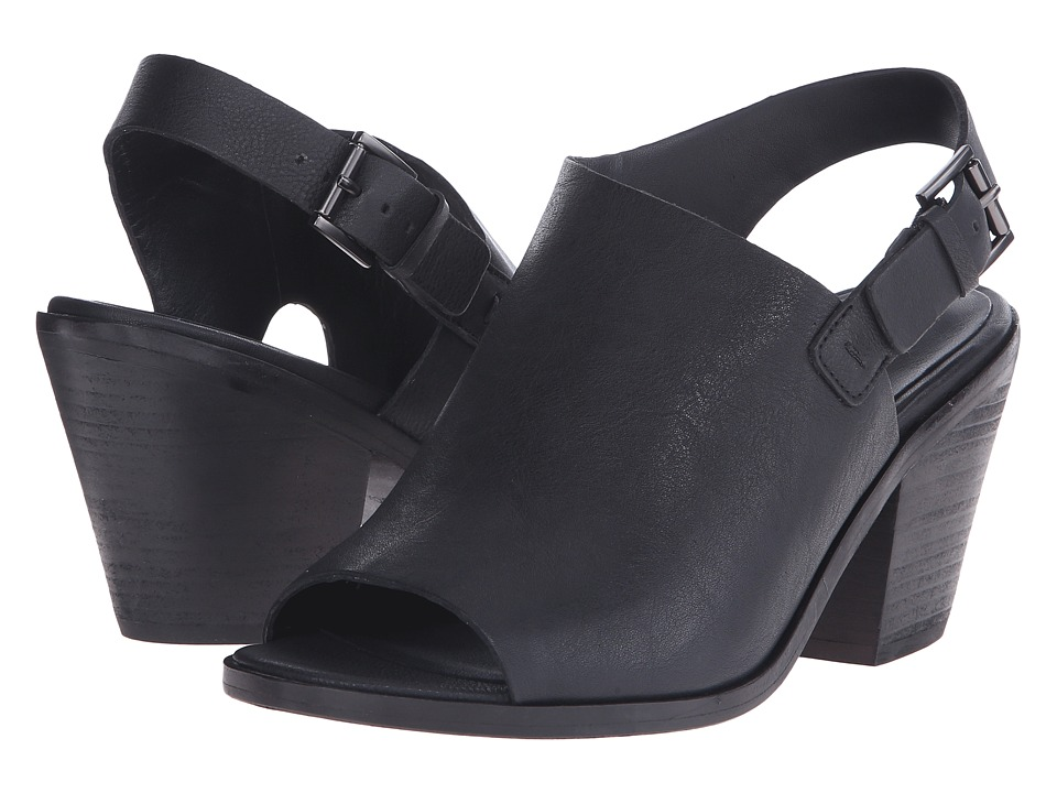 Eileen Fisher Glance Black Leather High Heels