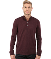 Calvin Klein Jeans - Long Sleeve Pigment Dye Slub Snap Neck