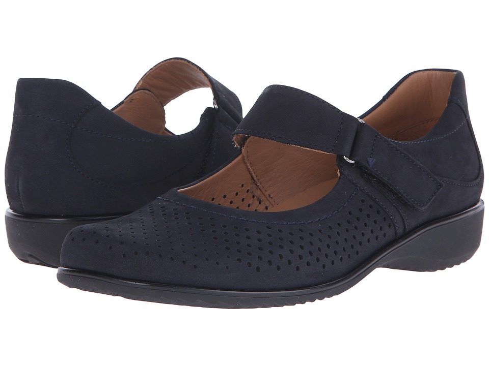 ara Agnes Navy Nubuck Womens Maryjane Shoes