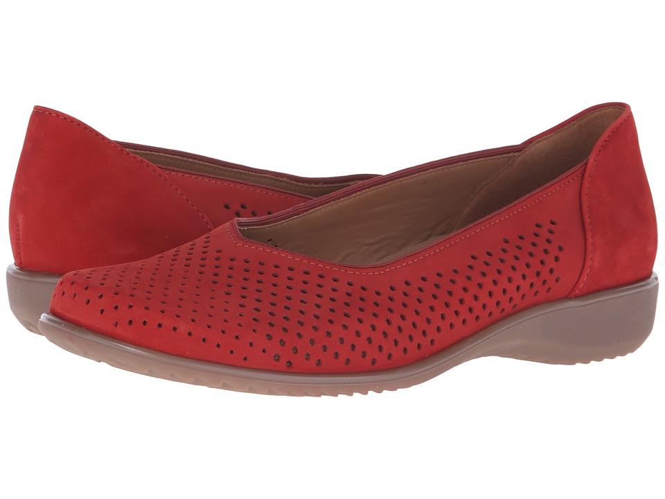 ara Avril Red Nubuck Womens Slip on Shoes