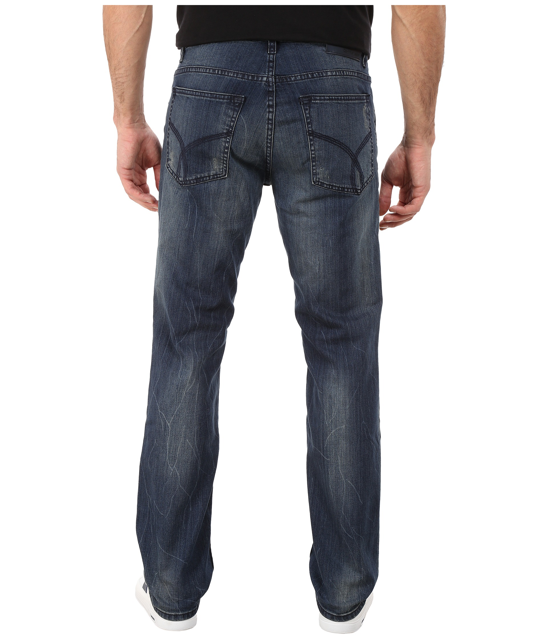calvin klein jeans alpha indigo denim slim straight. Black Bedroom Furniture Sets. Home Design Ideas