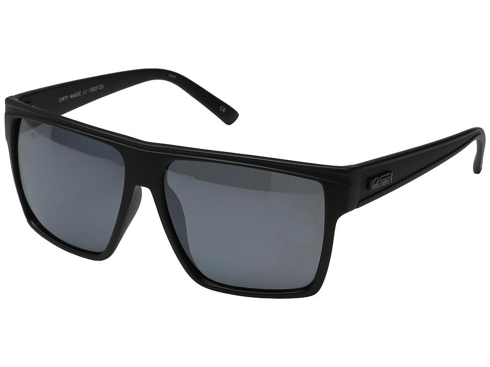 Le Specs Dirty Magic Black Rubber Fashion Sunglasses