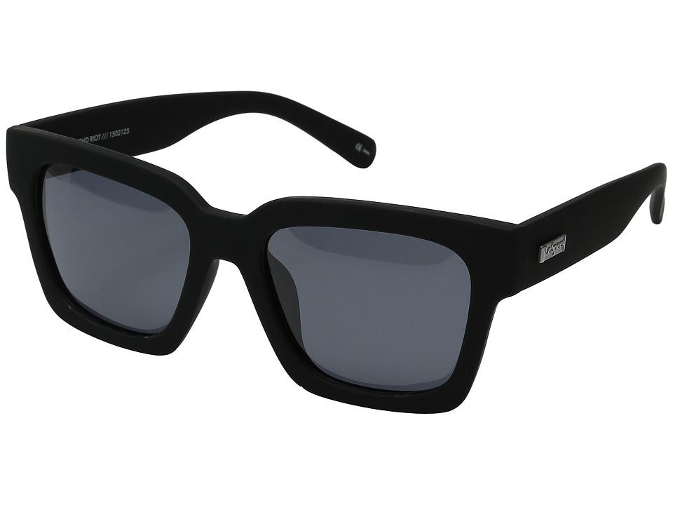 Le Specs - Weekend Riot (Black Rubber) Fashion Sunglasses