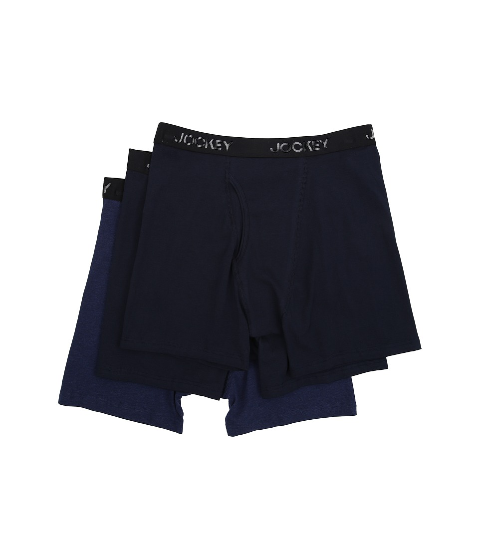 Jockey Cotton Stretch Full Rise Midway Brief Navy/Grey Assort Mens Underwear