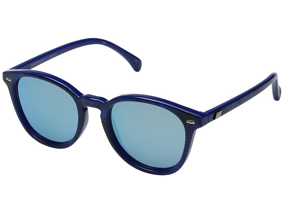 Le Specs Bandwagon Cobalt Marble Fashion Sunglasses
