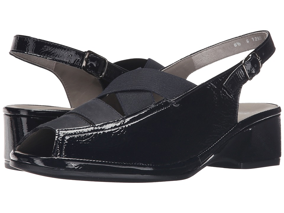 ara - Rumor (Navy Crinkle Patent/Nubuck) Women