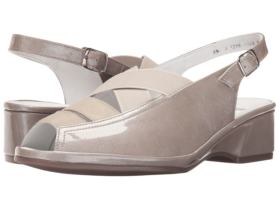 ara Rumor (Cotton Patent/Lino Suede) Wedge Shoes