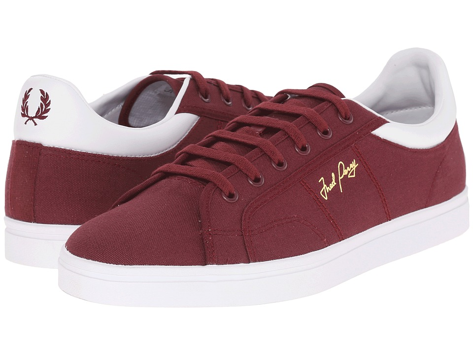 Fred Perry - Sidespin Canvas (Port/White) Men
