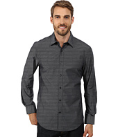 Perry Ellis - Long Sleeve Mini Stripe Pattern Shirt