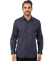 Perry Ellis - Long Sleeve Tonal Stripe Pattern Shirt