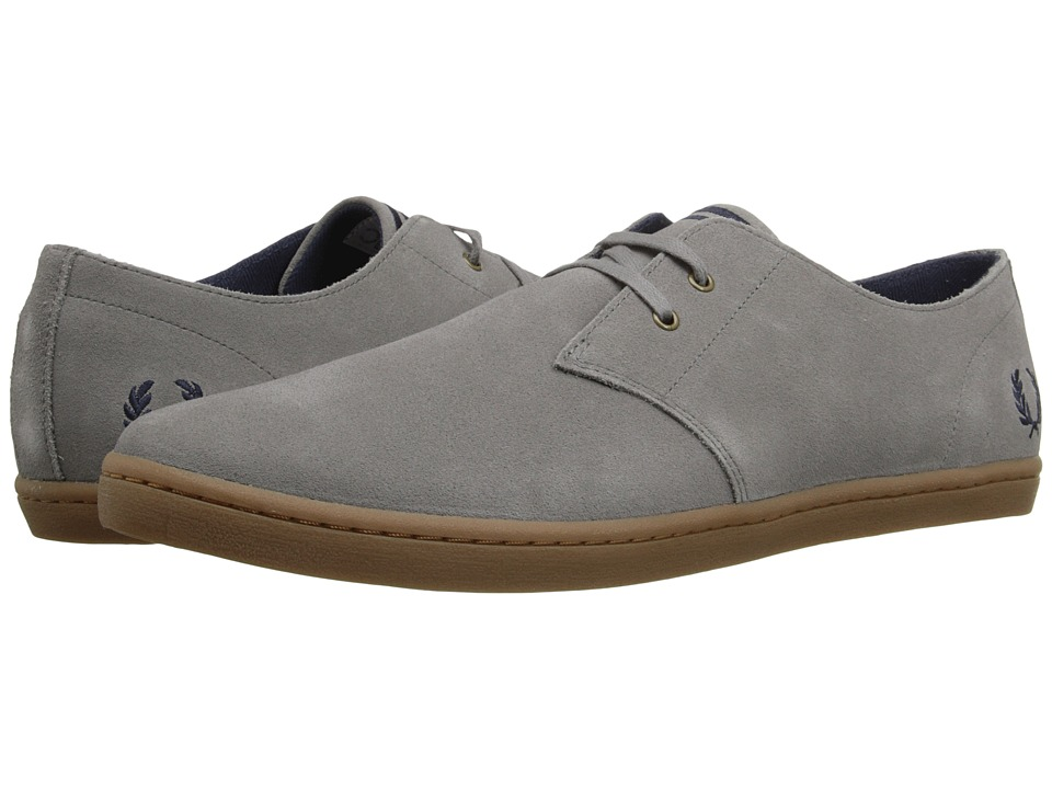 Fred Perry Byron Low Suede Falcon Grey/Carbon Blue Mens Shoes
