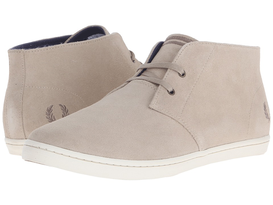 Fred Perry Byron Mid Suede Sand/Dirftwood Mens Lace up casual Shoes