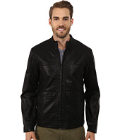 Perry Ellis - Textured Faux Leather Bomber