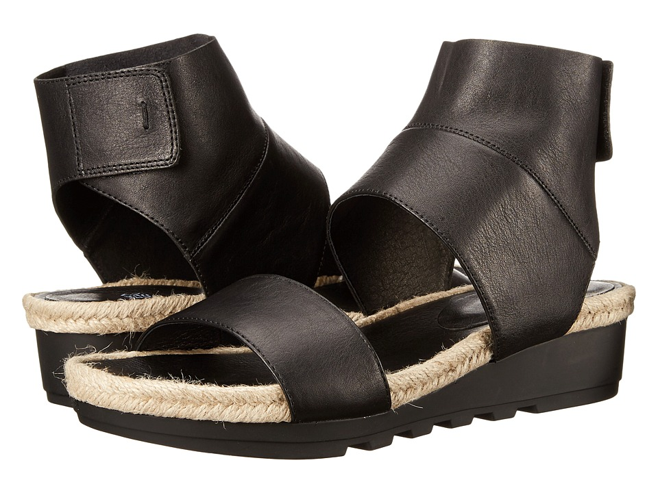 Eileen Fisher Glad Black Leather Womens Sandals