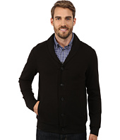 Perry Ellis - Quilted Shawl Button Front Cardigan