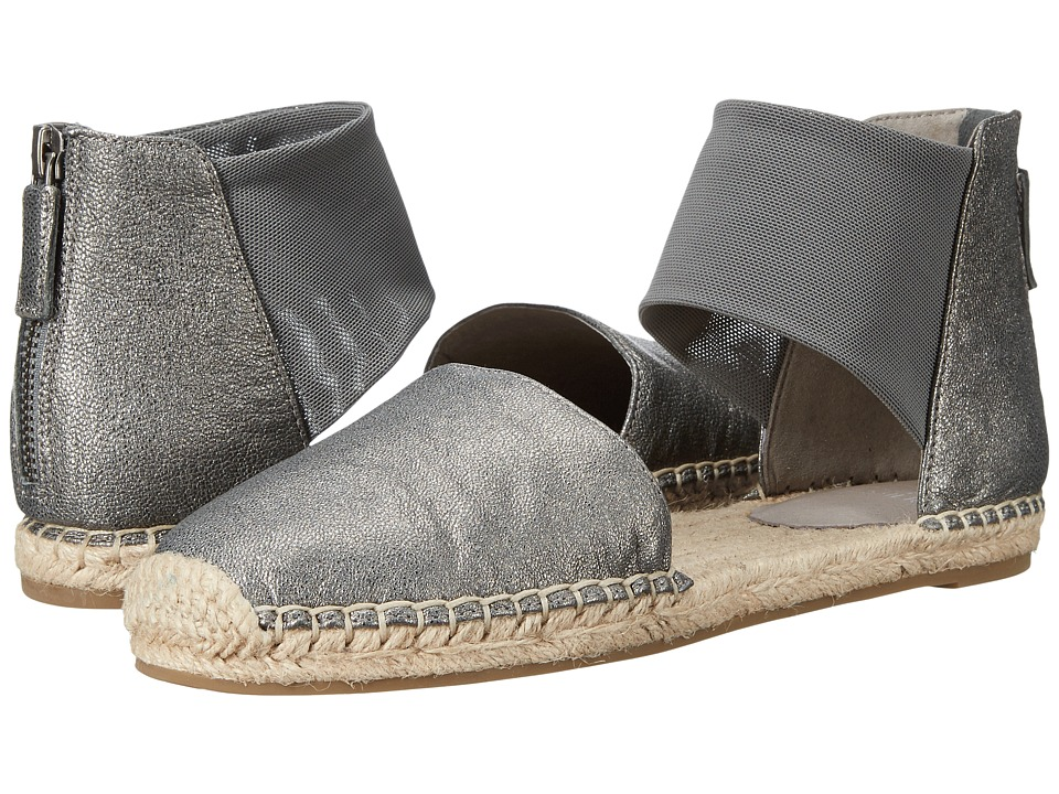 Eileen Fisher Coy Pewter Metallic Leather Womens Shoes