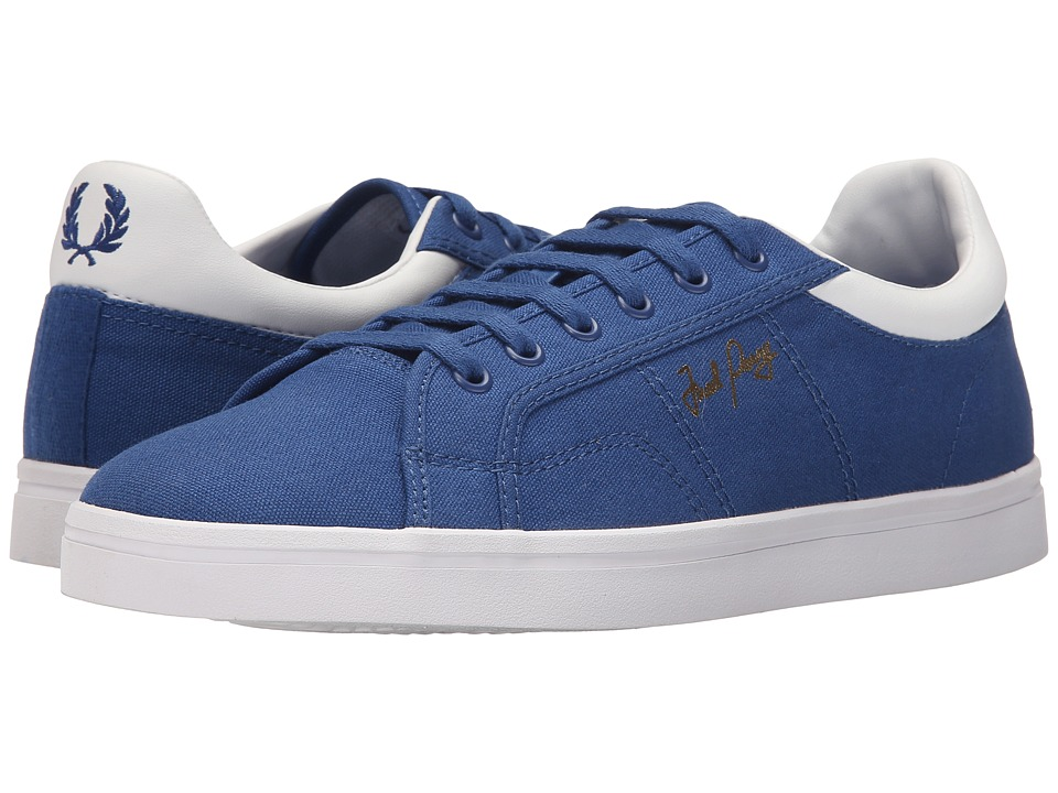 Fred Perry - Sidespin Canvas (1964 Royal/White) Men