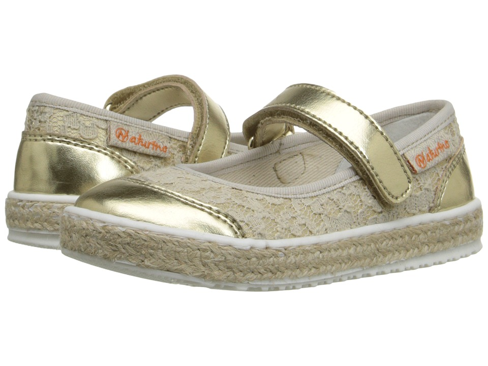 Naturino Nat. 8088 SS16 Toddler/Little Kid/Big Kid Gold Girls Shoes