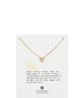 Dogeared - The Dog Lover Chevron Heart Necklace