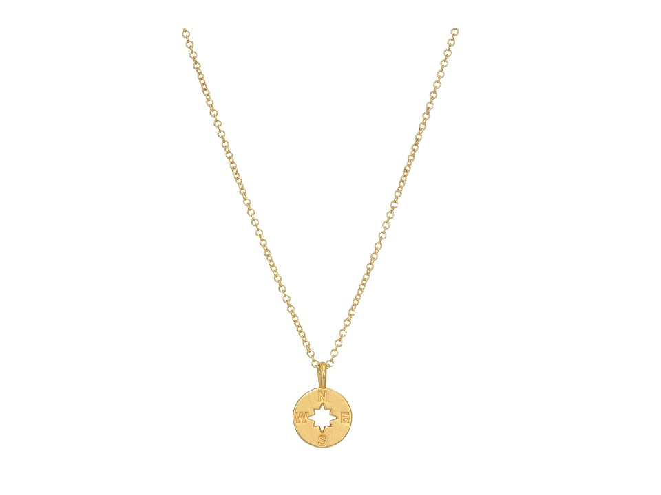 Dogeared Going Places Compass Reminder Necklace Gold Dipped Necklace