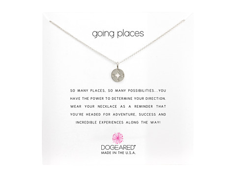 Dogeared Going Places Compass Reminder Necklace - Sterling Silver