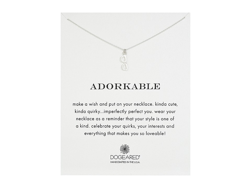 Dogeared Adorkable Glasses Reminder Necklace Sterling Silver Necklace