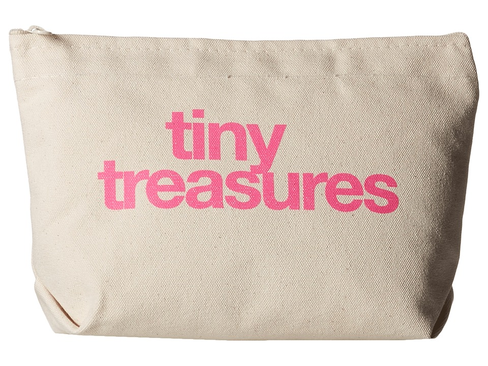 Dogeared - Tiny Treasures Lil Zip (Canvas/Pink) Handbags