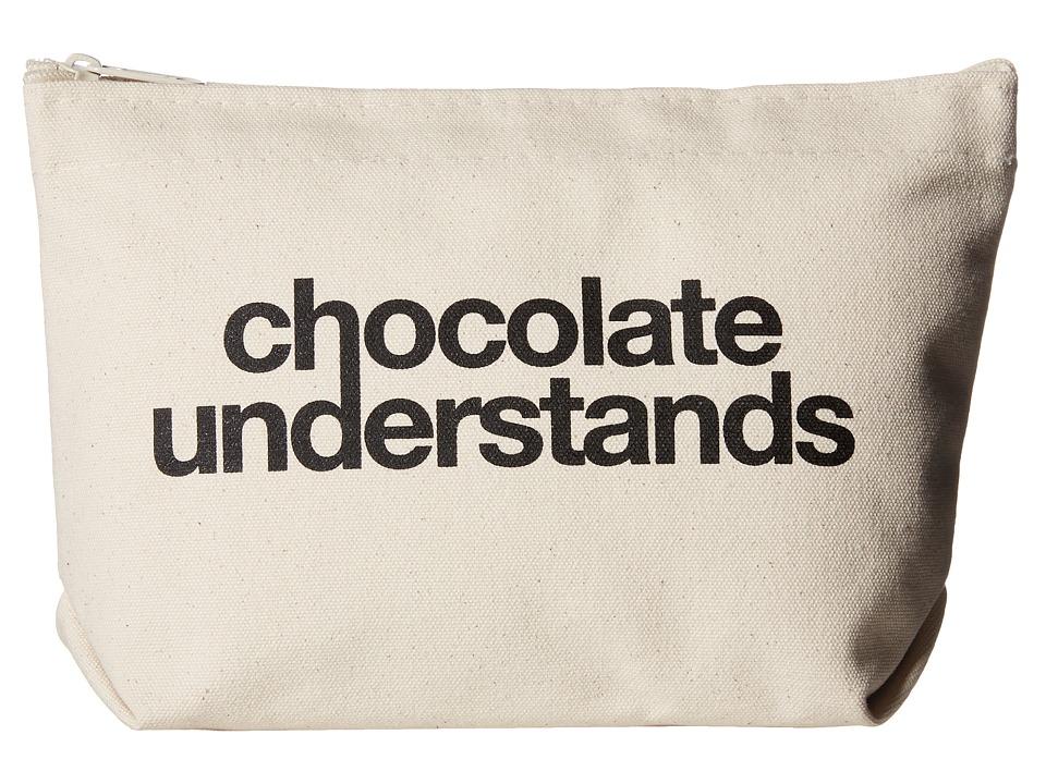 Dogeared Chocolate Understands Lil Zip Canvas/Black Handbags
