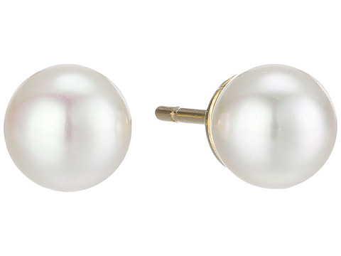 Majorica 6mm Round Pearl Stud Earrings - White
