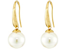 Majorica French Wire Round Pearl Drop Earrings