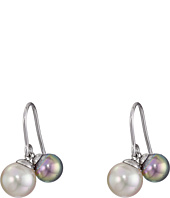 Majorica - White and Grey Pearl Drop Earrings