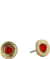 Lucky Brand - Gold and Carnelian Stud Earrings